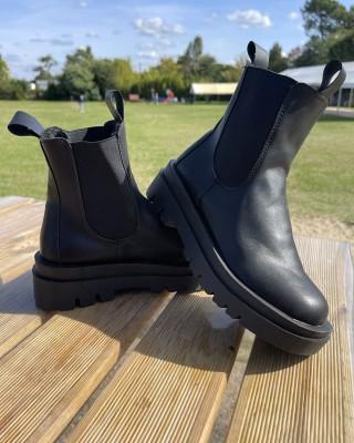 Boots Basses Simili Cuir