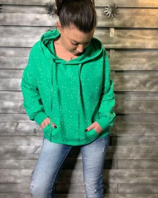 Sweat Vert Petites Etoiles