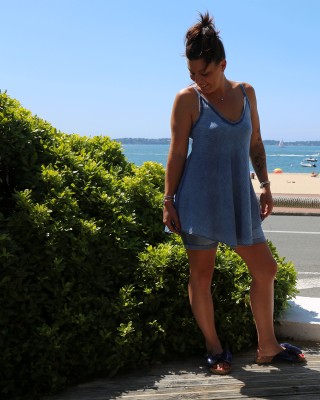 Tunique Coton Bleu