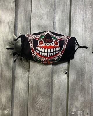 Masque Tête de Mort Noir