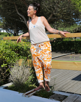 Sarouel Tropical Orange