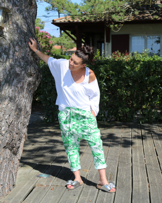 Sarouel Tropical Vert