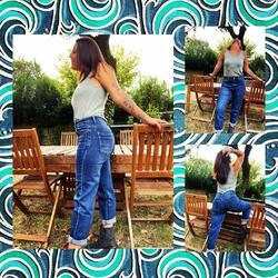 Aujourd'hui l'indispensable jean mom 👖👖👖👖…. Ultra confort, taille haute, c'est le top de la mode 😎😎😎… 39€, du 36 au 44, faites vos réservations 😉😉😉…. #papilhome #dressingroom #dressingparticulier #boutiquenomade #madeinitaly #moodoftheday #lookdujour #jeanmom #jeanaddict #gujanmestras #bassinarcachon☀️🌊⚓️
