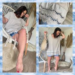 Saturday look, on reste cool, c'est le week-end 🤩🤩🤩…. Tunique 25€, Short 39€, Sac cuir 169€…. #papilhome #lookdujour #weekend #cool #dressingroom #vetementfemme #mood #tunique #shortjeans #gujanmestras #bassinarcachon