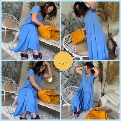 Les filles !!!!! On adore 🥰, look du jour avec cette robe longue en coton 39€, les mules 19€ et le sac 100% cuir italien 169€…. #papilhome #lookoftheday #robelongue #tendancemode #fringues #siteinternet #gujanmestras #bassinarcachon