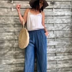 Whouaaaaa ☀️☀️☀️☀️☀️☀️☀️☀️☀️☀️☀️... On profite du beau temps aujourd'hui 😉😉, pantalon large lyocel 40€, caraco 20€, sac cuir italien 169€... #papilhome #tendancemode #goodvibes #lookoftheday #saturdaymood #☀️☀️☀️ #www.papilhome.com #siteinternet #dressing #particulier #gujanmestras #bassinarcachon